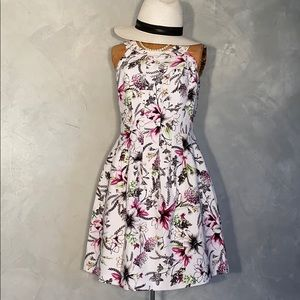 WHBM Spring Floral Fit & Flare Princess Dress